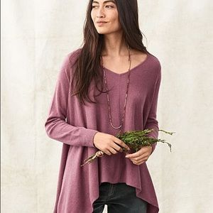 Garnet Hill Cashmere Angled Side Seam Sweater